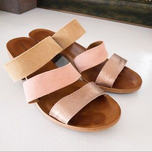 Lucky Brand Rileigh 2 Pink Strappy Leather Sandals